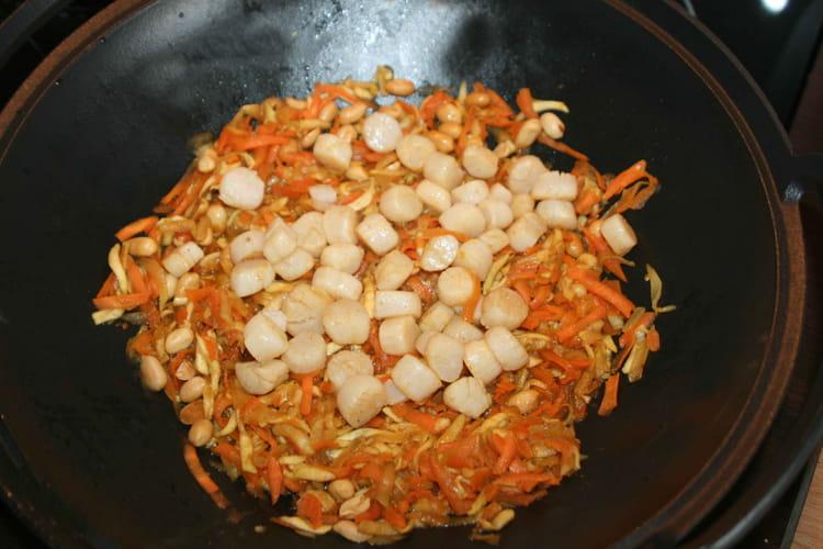 Légumes sautés aux noix de Saint-Jacques