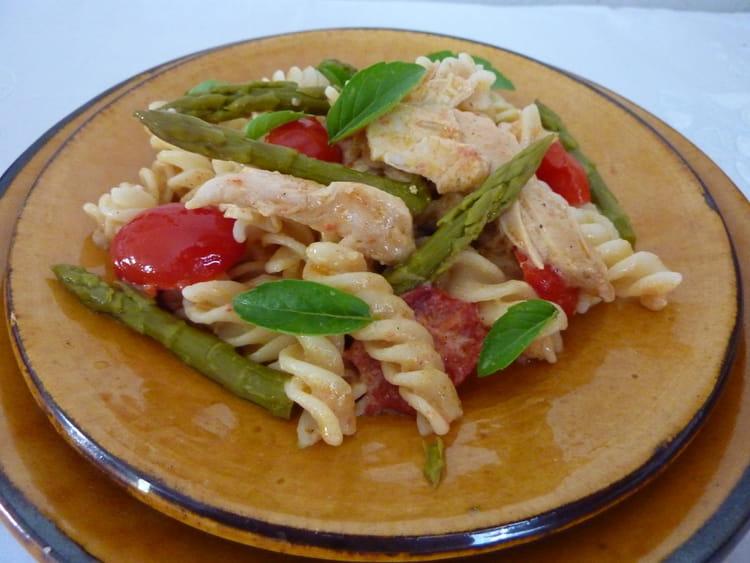 pates aux asperges et poulet