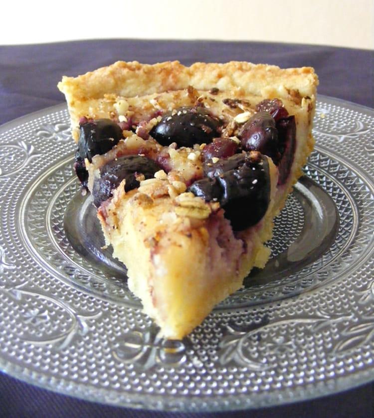 recette de tarte amandine aux cerises la recette facile. Black Bedroom Furniture Sets. Home Design Ideas