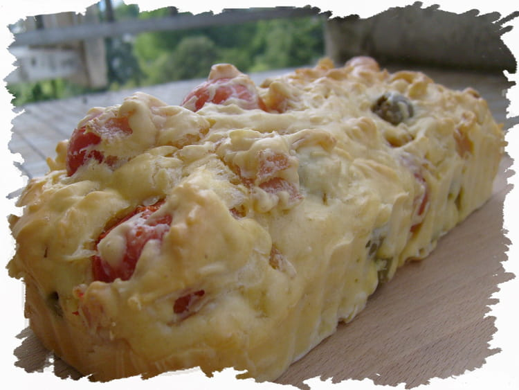 Recette de cake tomates cerises blanc de dinde et olives - Cuisiner blanc de dinde ...