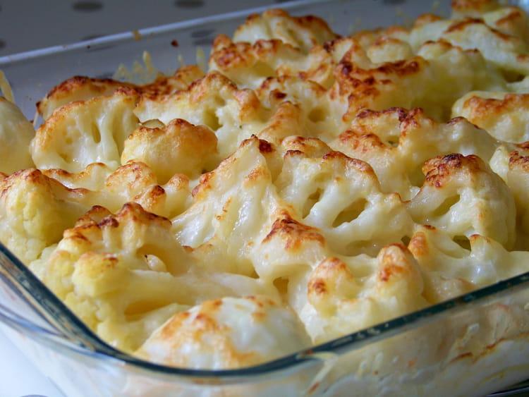 recette de grtain de chou fleur pommes de terre et parmesan la recette facile. Black Bedroom Furniture Sets. Home Design Ideas