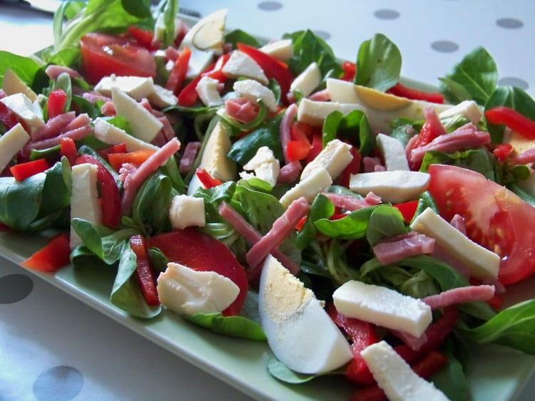 Recette de salade d 39 t au jambon et mozzarella la recette facile - Salade d ete composee ...
