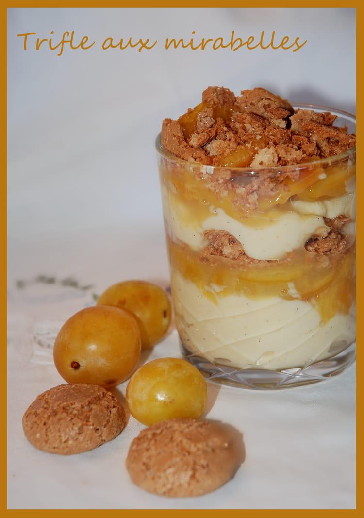 recette de trifle aux mirabelles la recette facile
