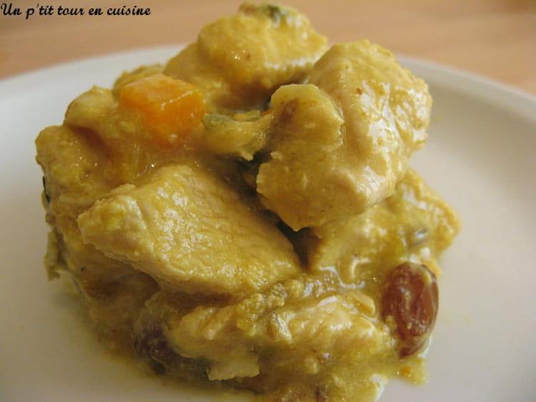 Recette escalopes de dinde au curry raisins secs et p che - Cuisiner escalopes de dinde ...