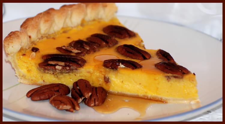 recette de tarte au potiron sirop d 39 rable et noix de p can la recette facile. Black Bedroom Furniture Sets. Home Design Ideas