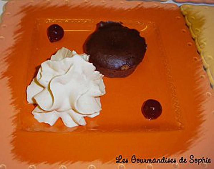 recette de mini moelleux au chocolat chantilly au caramel. Black Bedroom Furniture Sets. Home Design Ideas