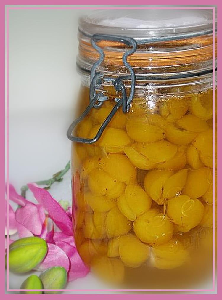 mirabelles au sirop en bocaux sterilises