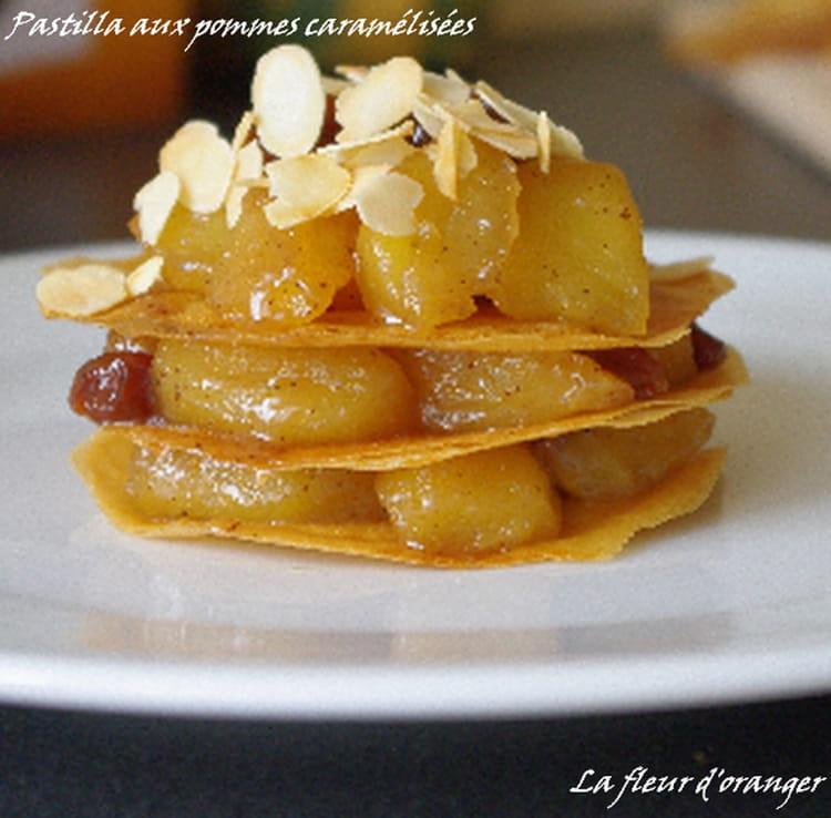 recette de pastilla aux pommes caram 233 lis 233 es la recette facile