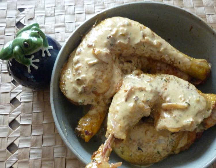 Recette de cuisses de poulet la moutarde la recette facile - Cuisse de poulet au four moutarde ...