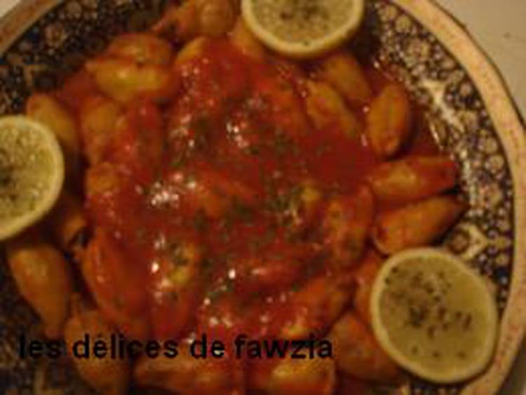 Recette encornets farcis la viande et sauce aux pices - Cuisiner des encornets ...