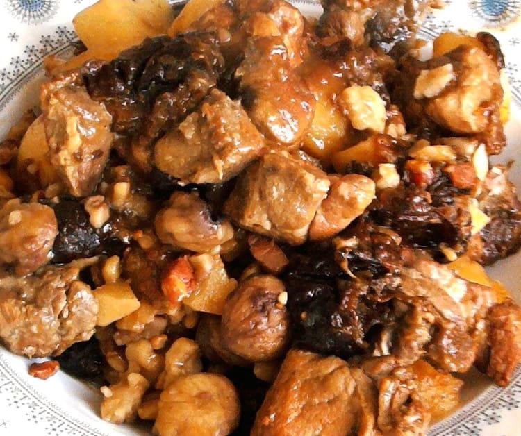 Recette de saut de porc marrons pruneaux la recette facile - Cuisiner rouelle de porc en cocotte minute ...