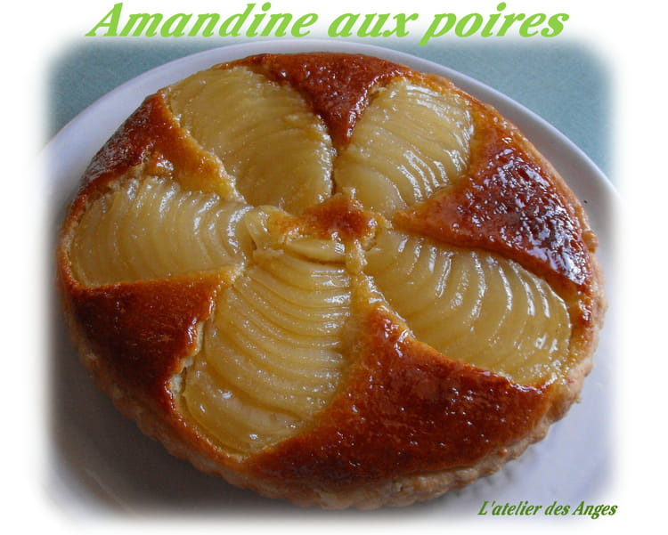 tarte amandine aux poires et cr me d 39 amandes la recette facile. Black Bedroom Furniture Sets. Home Design Ideas