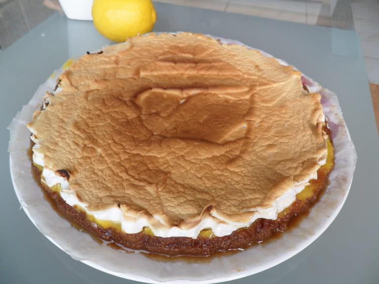 Recette de tarte au citron meringu e et speculoos la recette facile - Recette tarte citron meringuee facile ...