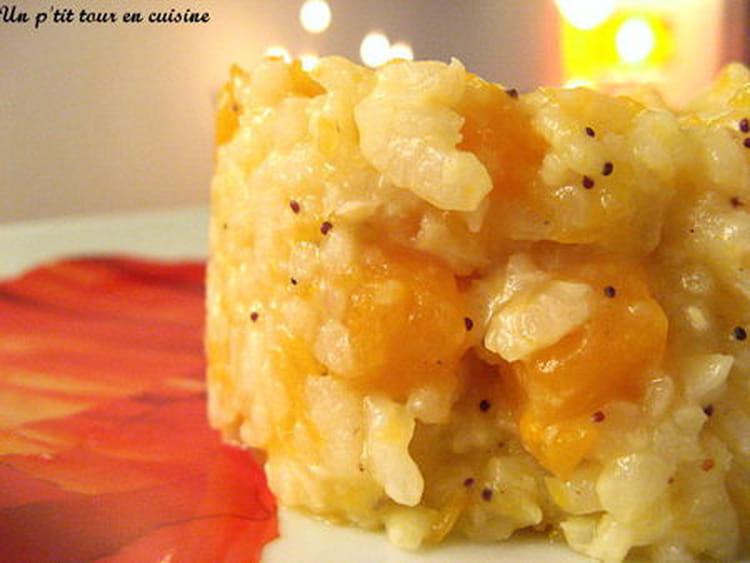 recette de risotto au potiron graines de pavot la recette facile. Black Bedroom Furniture Sets. Home Design Ideas