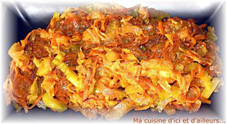 Recette de wok de courgettes carottes et c leri la - Cuisiner fanes de carottes ...