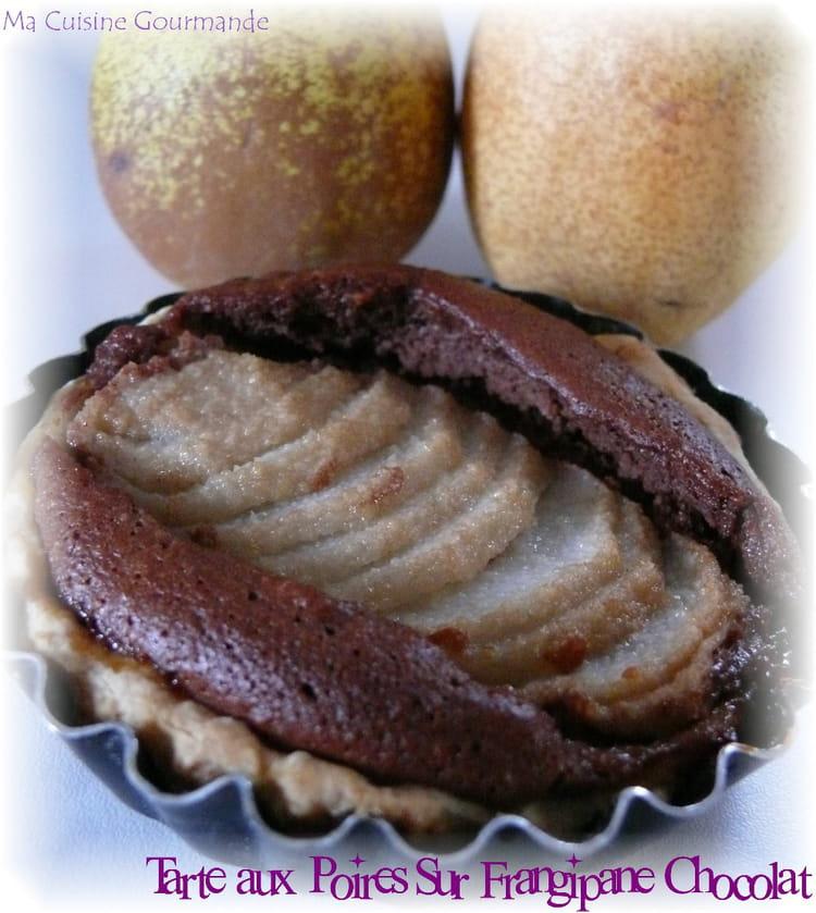 Recette de tarte aux poires sur frangipane au chocolat la recette facile - Recette tarte aux chocolat ...