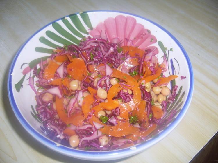 recette de salade chou rouge pois chiches la recette facile. Black Bedroom Furniture Sets. Home Design Ideas