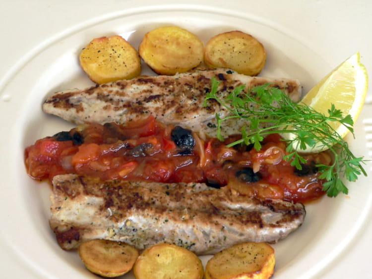 Recette de filets de maquereaux et compot e de tomates - Cuisiner des maquereaux ...
