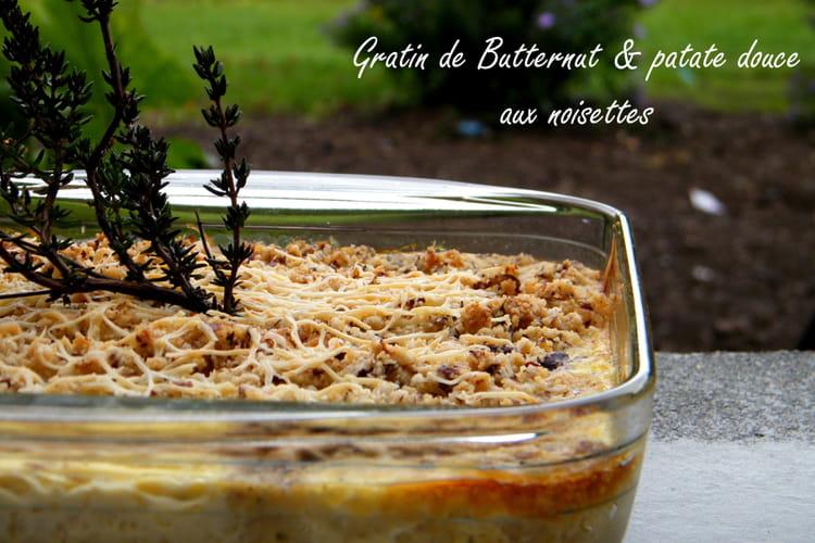 Recette de gratin de courge butternut et patate douce la recette facile - Comment cuisiner courge butternut ...