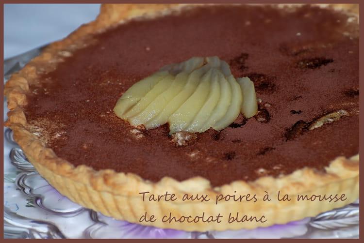Recette de tarte aux poires la mousse de chocolat blanc la recette facile - Recette tarte aux chocolat ...