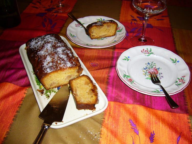 Recette g teau aux pommes et noix de coco dessert divers - Gateau aux noix et pommes ...