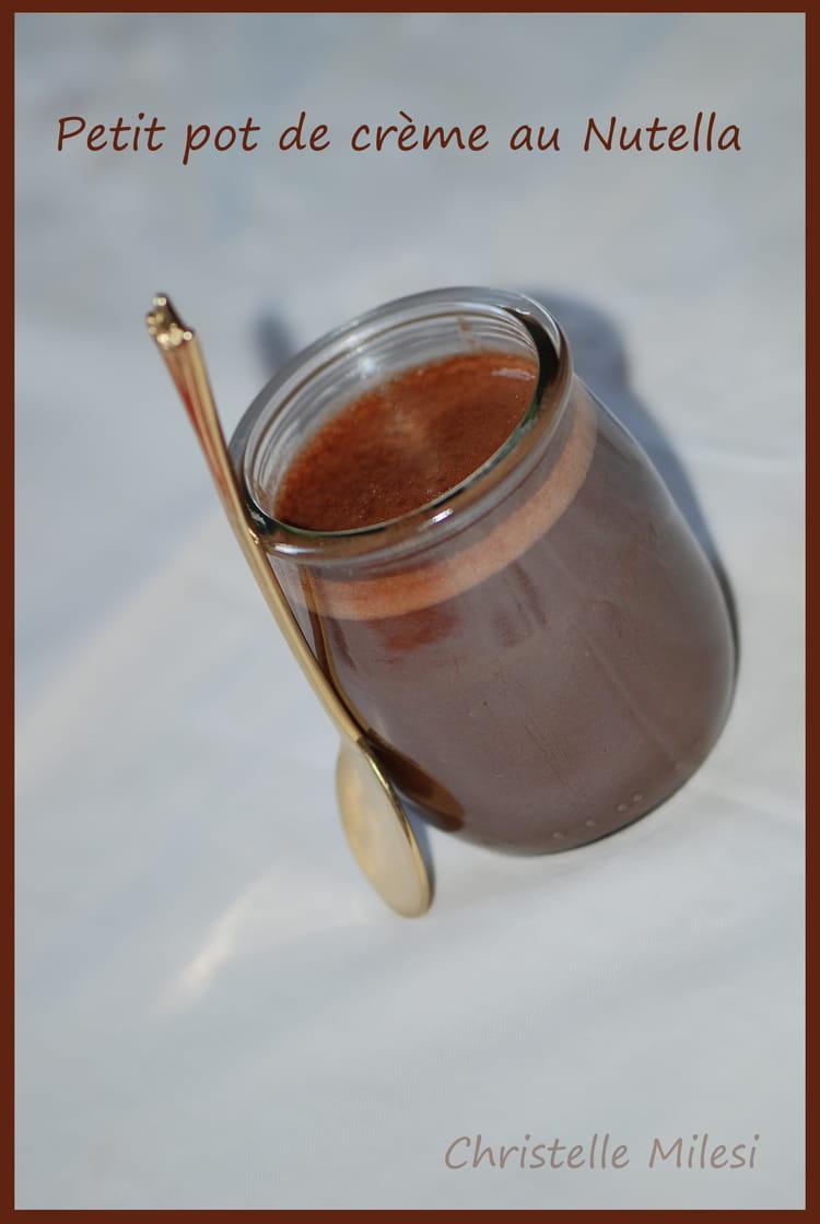 Recette de petit pot de cr me au nutella la recette facile - Petit pot de nutella ...