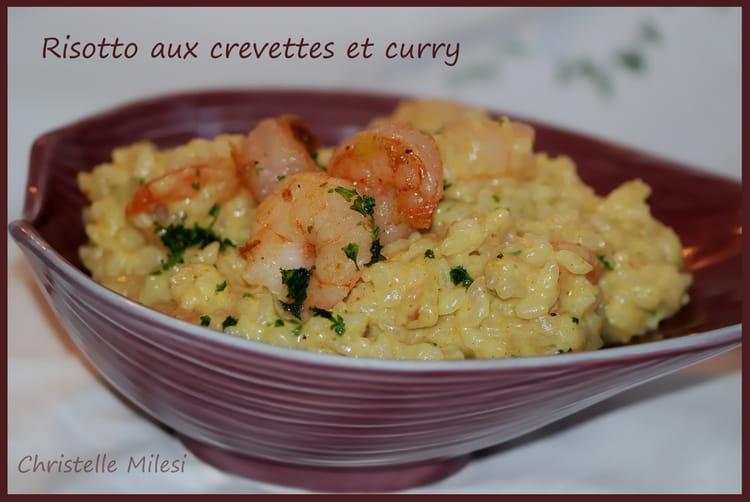 recette de risotto aux crevettes et curry la recette facile. Black Bedroom Furniture Sets. Home Design Ideas