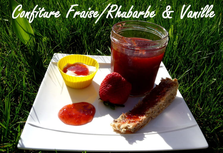 recette de confiture rhubarbe fraise et vanille au cooking chef la recette facile. Black Bedroom Furniture Sets. Home Design Ideas