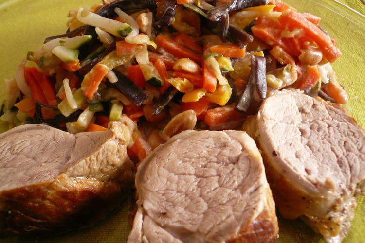 Recette de filet mignon de porc aux cacahu tes la - Cuisiner filet mignon de porc ...