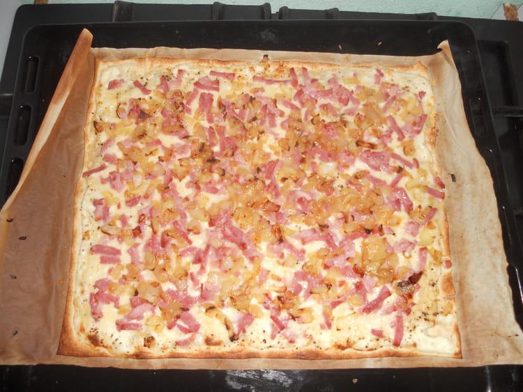 Tarte alsacienne au bacon la recette facile - Recette tarte normande traditionnelle ...