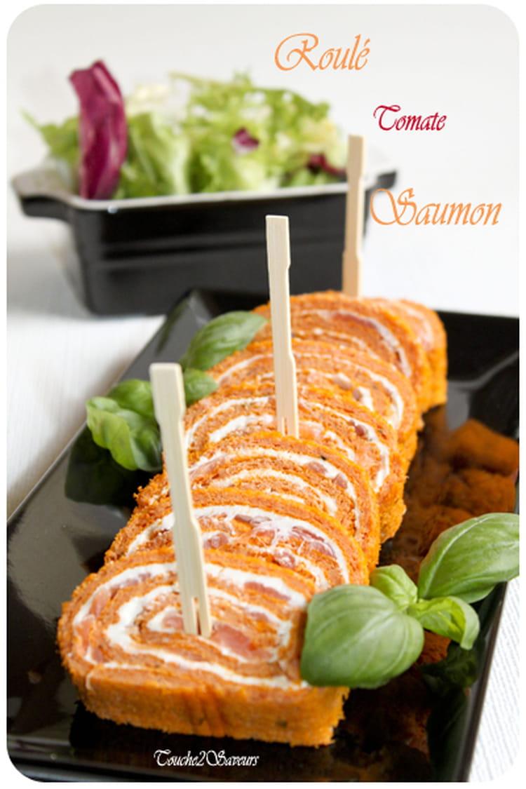 recette de roul la tomate saumon et fromage frais la recette facile. Black Bedroom Furniture Sets. Home Design Ideas