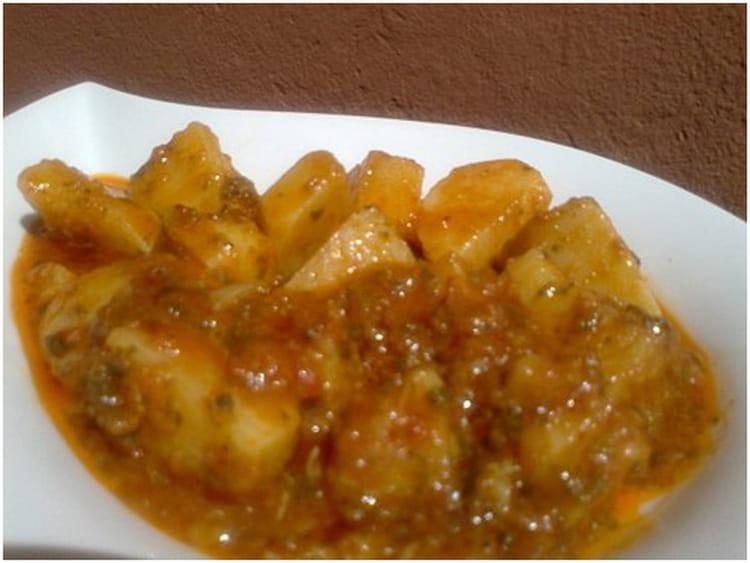 Recette de pommes de terre la chermoula la recette facile - Pommes de terre a la braise ...