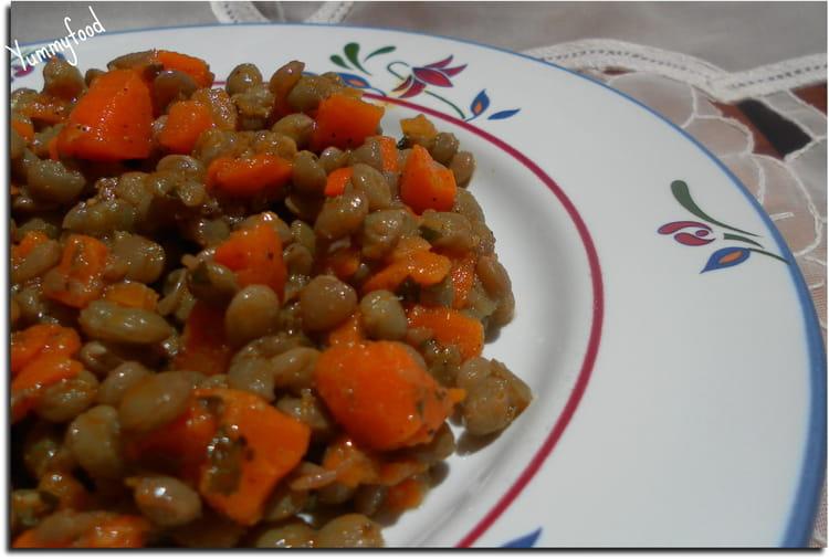recette de salade lentilles carottes l 39 huile d 39 argan la recette facile. Black Bedroom Furniture Sets. Home Design Ideas