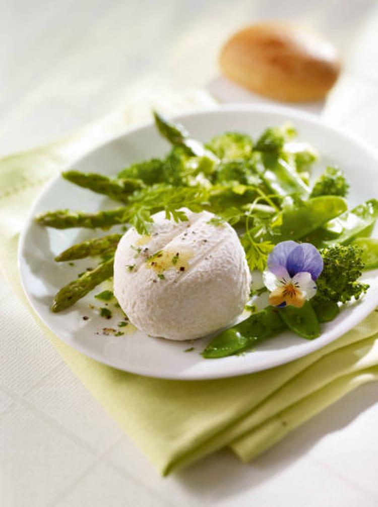 Recette de salade de crottin de ch vre aux pois gourmands - Cuisiner des pois gourmands ...