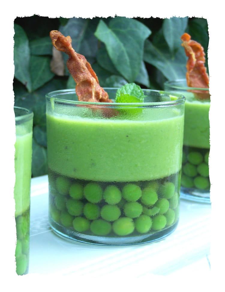 Recette de panna cotta de petits pois la menthe la recette facile - Soupe petit pois menthe ...