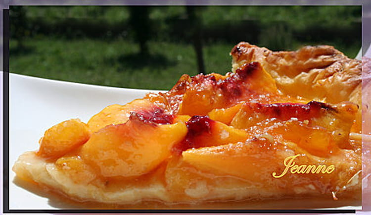 tarte aux p ches la confiture d 39 abricots la recette facile. Black Bedroom Furniture Sets. Home Design Ideas
