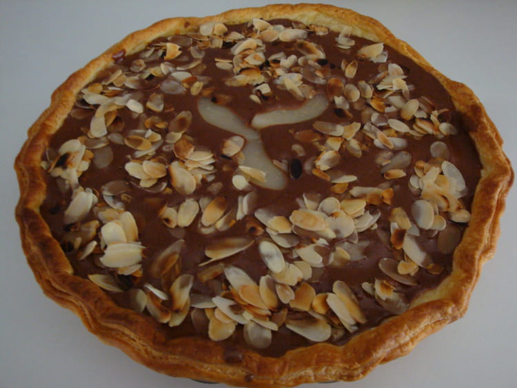recette tarte poires chocolat aux amandes dessert divers. Black Bedroom Furniture Sets. Home Design Ideas