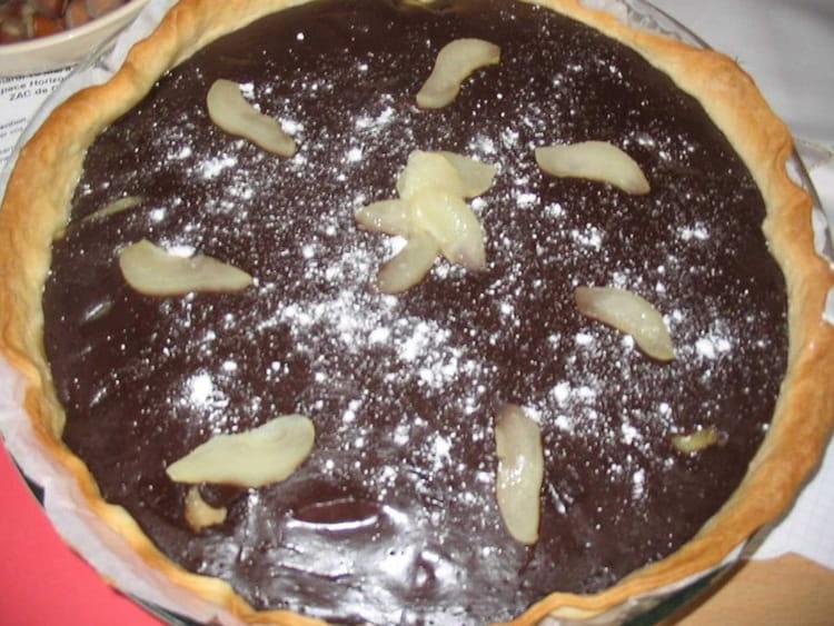 recette de tarte poire chocolat au yaourt la recette facile. Black Bedroom Furniture Sets. Home Design Ideas