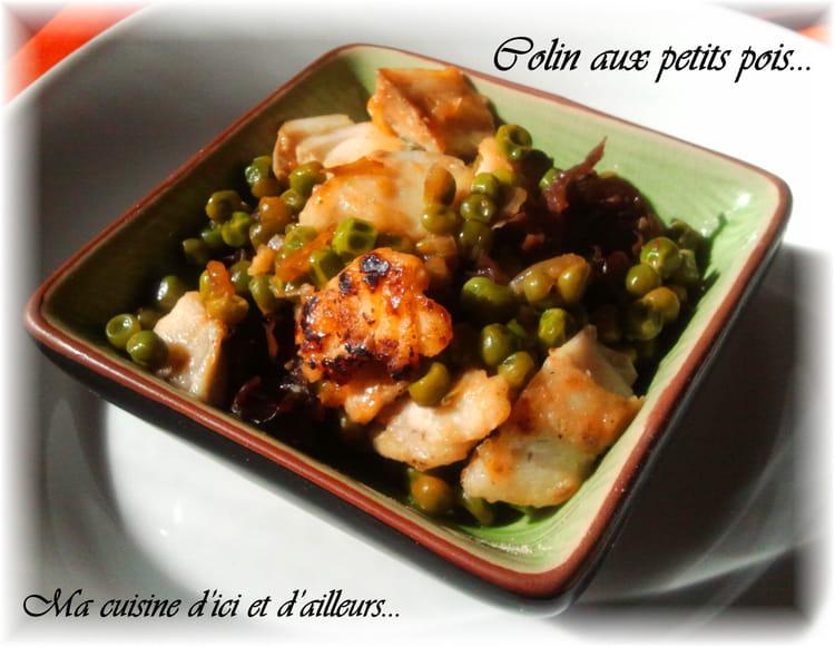 Recette de colin aux petits pois la recette facile for Petit pois cuisine