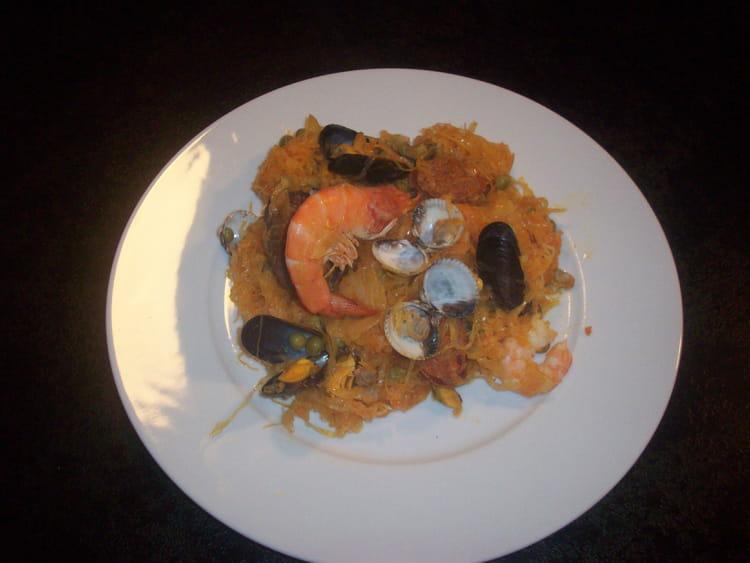 Recette de choucroute de la mer au chorizo et amandes la - Cuisiner choucroute cuite ...