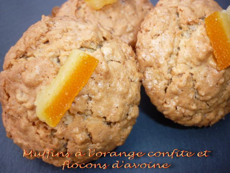 recette de muffins l 39 orange confite et aux flocons d. Black Bedroom Furniture Sets. Home Design Ideas