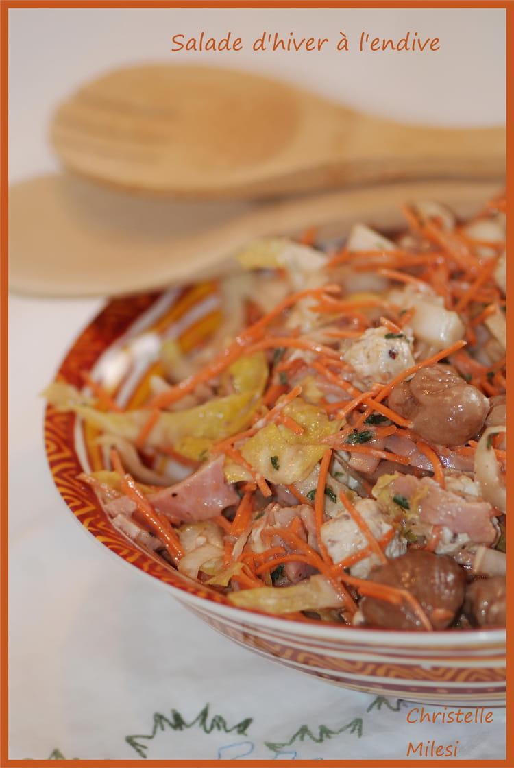 Recette de salade d 39 hiver l 39 endive la recette facile - Salade d hiver variete ...