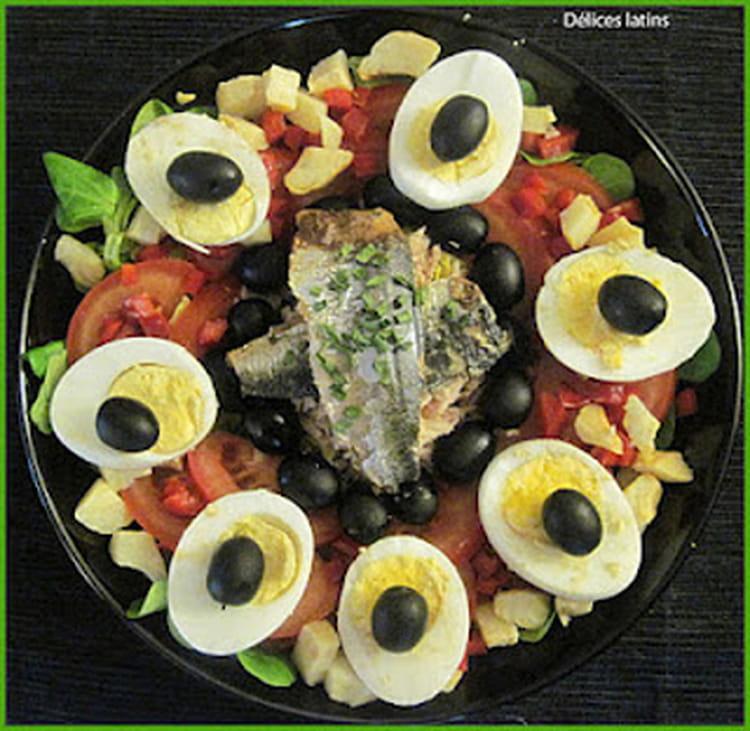 Recette de salade compl te aux poissons la recette facile for Salade poisson