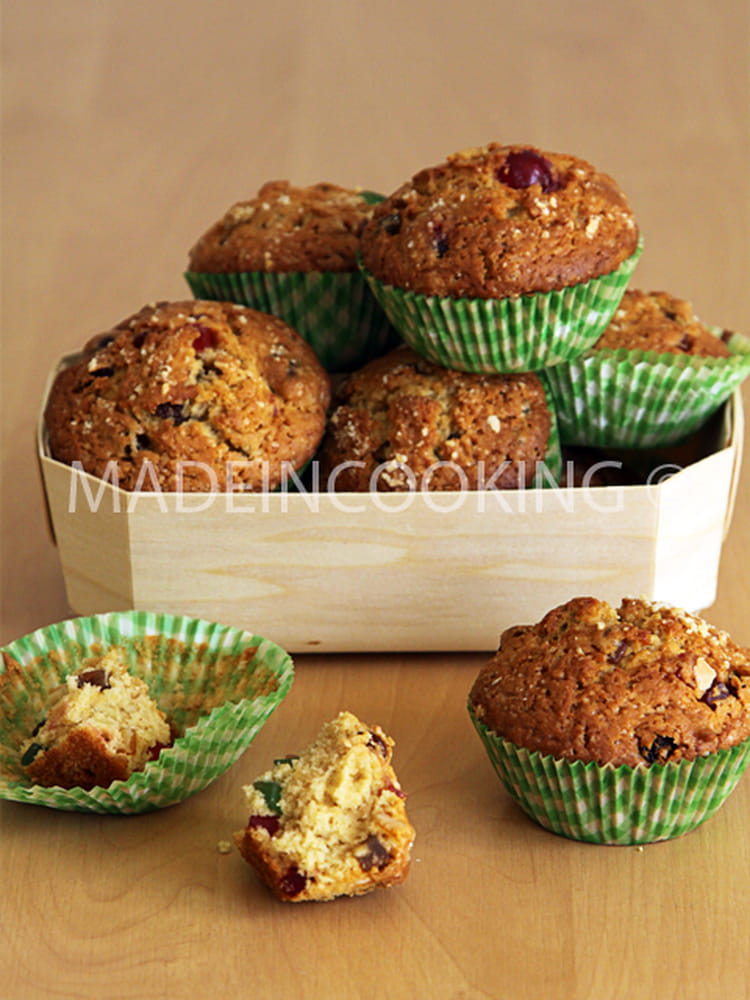 recette mini cake aux fruits confits muffin dessert. Black Bedroom Furniture Sets. Home Design Ideas