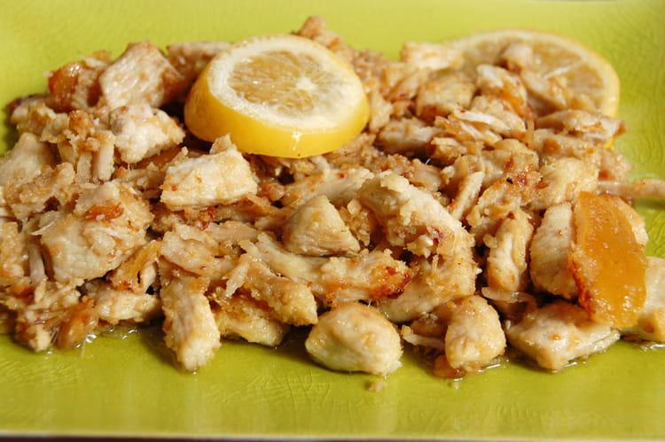 Recette de poulet marin au citron la recette facile - Cuisiner aiguillette de poulet ...