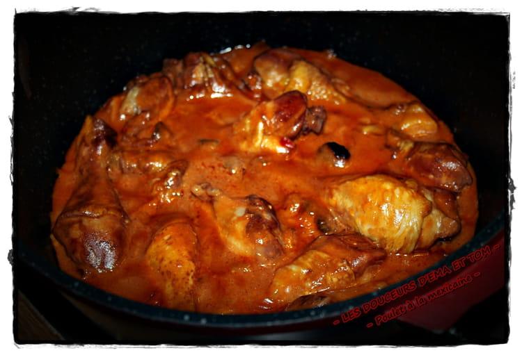 Recette de cuisses de poulet la sauce mexicaine la - Cuisiner cuisse de poulet ...