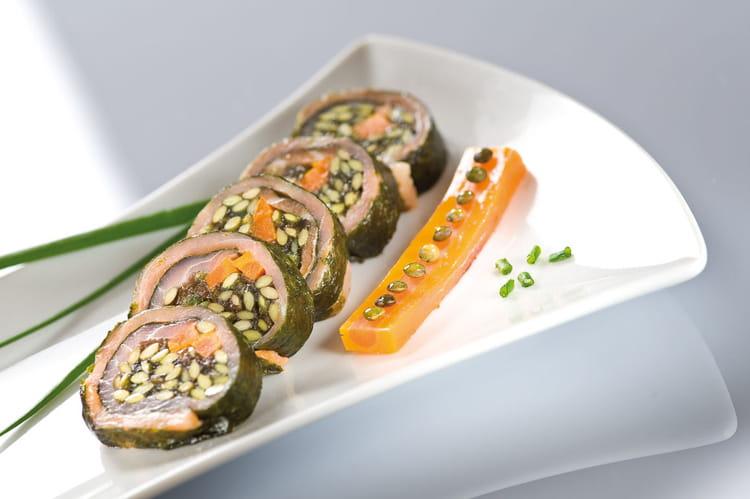 Recette de sushi de lentilles vertes du puy et saumon fum - Cuisiner les lentilles vertes ...