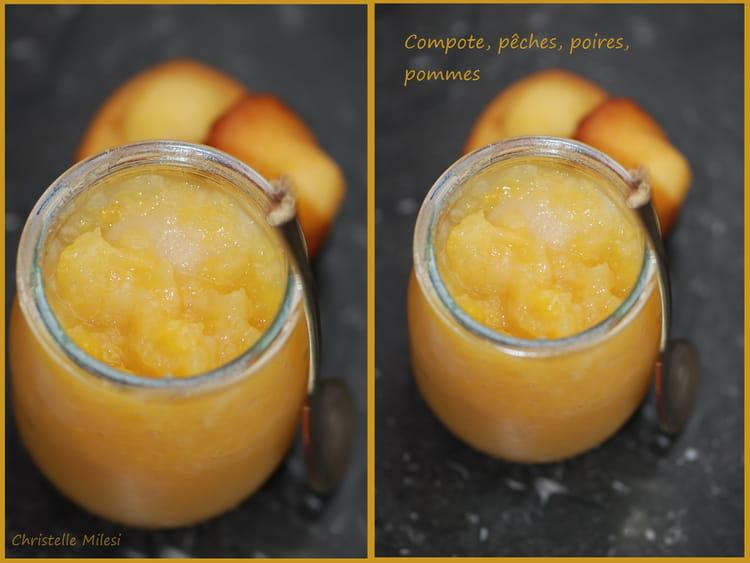 recette de compote p ches poires pommes la recette facile. Black Bedroom Furniture Sets. Home Design Ideas