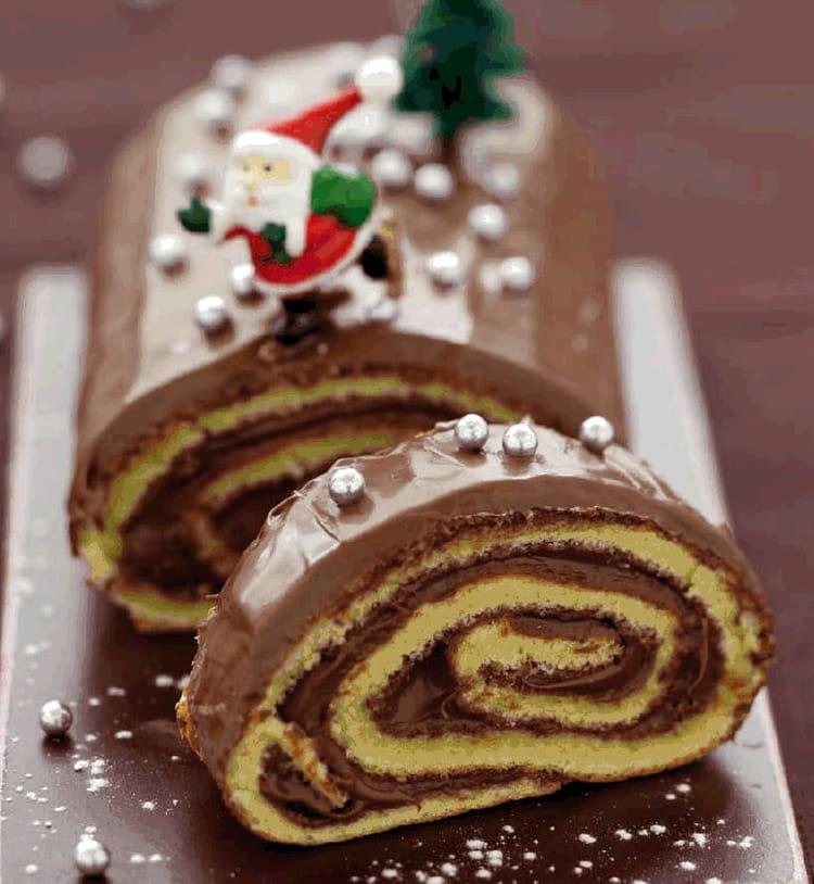 Bûche de Noël roulée au Nutella®