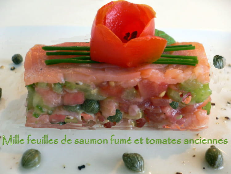 Recette de millefeuille de saumon fum et tomates - Comment cuisiner le coeur de boeuf en tranche ...